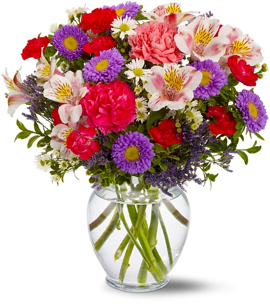 Birthday flower arrangements mini vase flower - Flower arrangements for vases ...