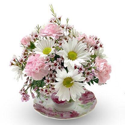 Everyday Flower Arrangements Teacup Flower Arrangement