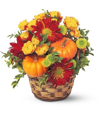 mounded-basket-flowers-pumpkin