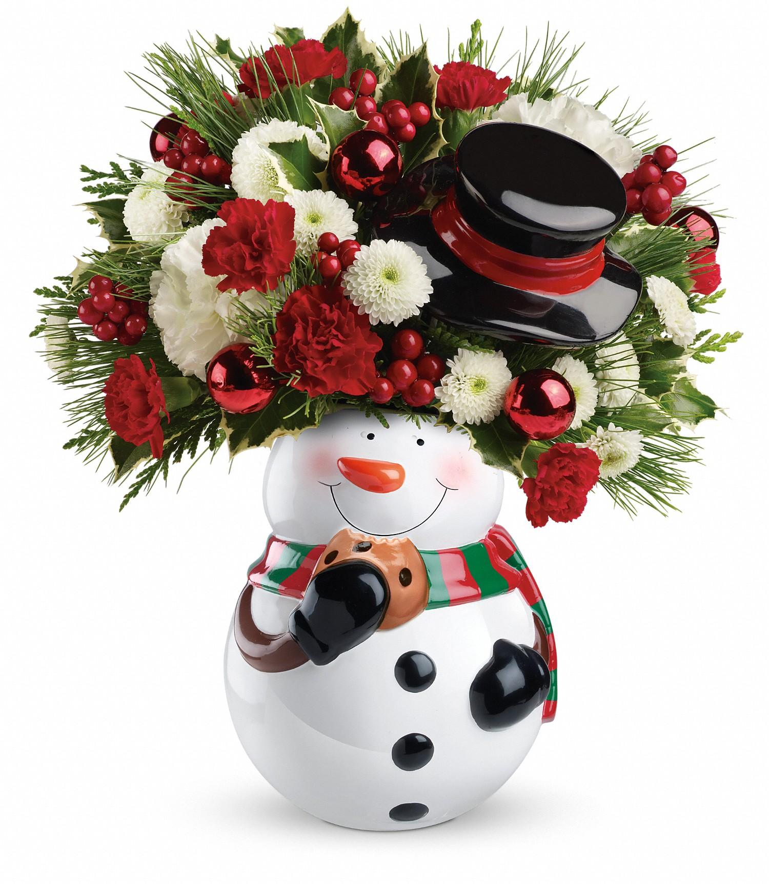 Telefloras Sweet Snowman Bouquet